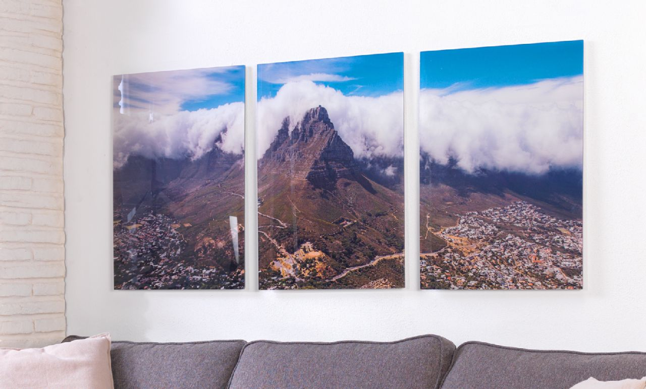 Multi-panel image wall art