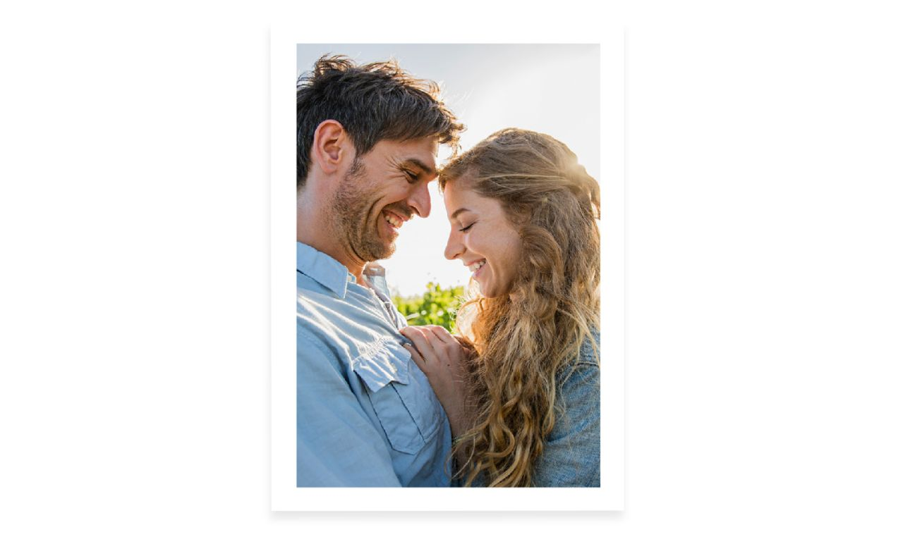 image of couple in love printed as framed wall art